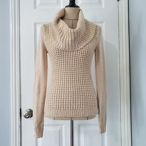Anthro Angel of the North Cowl Cream Sweater
